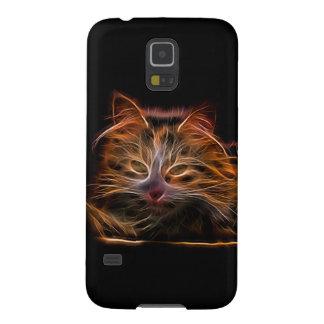 Elektrische glühende Katze Samsung Galaxy S5 Cover