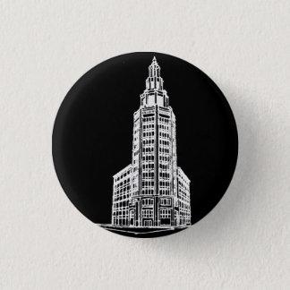 Elektrischer Turm im Schwarzen Runder Button 2,5 Cm