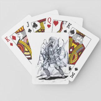 Elementare Luft-Samurais Spielkarten