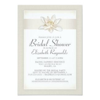 Elfenbein-Brautparty-Einladungen 12,7 X 17,8 Cm Einladungskarte