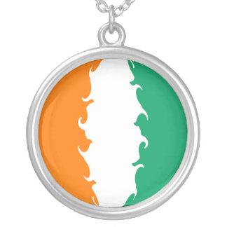 Elfenbeinküste-Gnarly Flagge Halskette Mit Rundem Anhänger