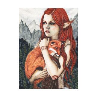 Elffox-Natur-Fantasie-Kunst eingewickelte Leinwand Gespannte Galerie Drucke