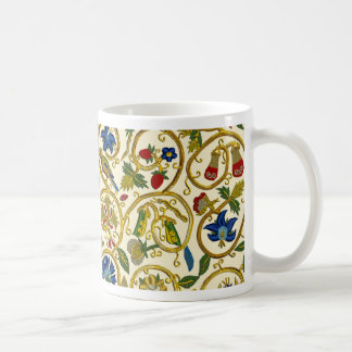 Elisabethanische Strudel-Stickereien - Goldwork Kaffeetasse