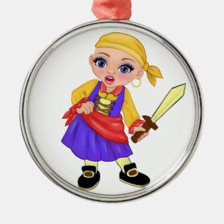 Ella die verzauberte Prinzessin Who Are You? Pirat Silbernes Ornament