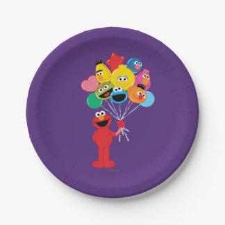Elmo Ballone Pappteller 17,8 Cm