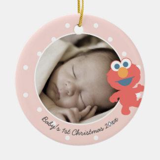 Elmo   das erste Weihnachten Babys - addieren Sie Keramik Ornament
