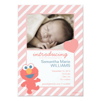 Elmo Geburts-Mitteilung Karte