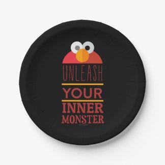 Elmo inneres Monster Pappteller 17,8 Cm