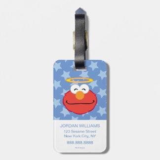 Elmo lächelndes Gesicht mit Halo Gepäckanhänger