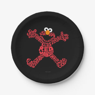 Elmo Muster-Fülle Pappteller 17,8 Cm