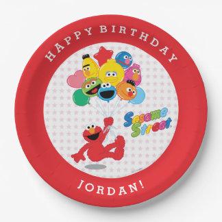 Elmo und Kumpel-Geburtstags-Ballone Pappteller 22,9 Cm