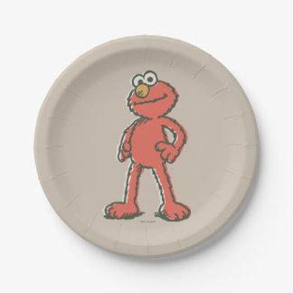 Elmo Vintag Pappteller 17,8 Cm