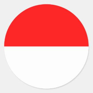 Elsass-Lothringen Flagge Runder Aufkleber