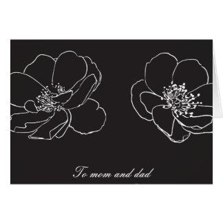 Eltern Mamma und Vati-Hochzeit danken Ihnen Grußkarte