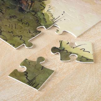 Elven Treehouse-Puzzle vom unwirklichen Anwesen Puzzle