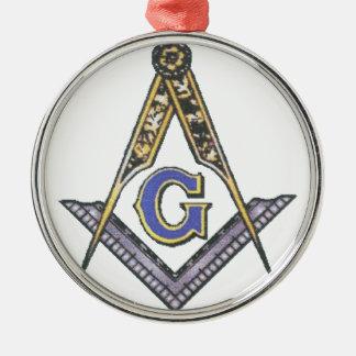 EMBLEM-PLAIN-1a Rundes Silberfarbenes Ornament