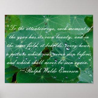 Emerson-Natur-Zitat-Plakat Poster
