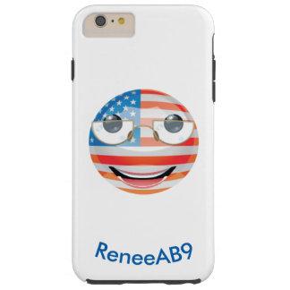"""Emoji """"Amerikaner"""" durch ReneeAB9 Tough iPhone 6 Plus Hülle"""