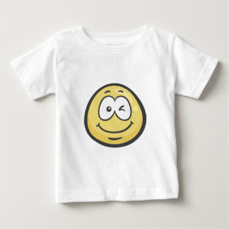 Emoji: Blinzeln des Gesichtes Baby T-shirt