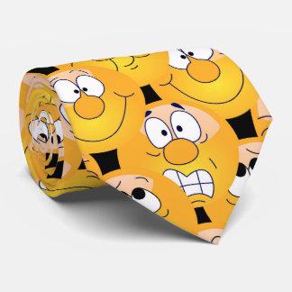 Emoji Entwurfs-lustige gelbe Gesichter Bedruckte Krawatten