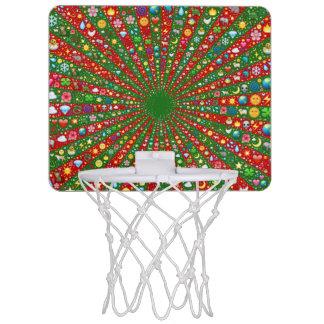 Emoji-Kunst Minibasketball konvergierender Mini Basketball Netz