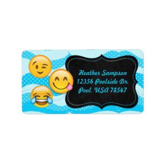 Emoji Pool-Party-Tafel-Adressen-Etiketten Adressaufkleber