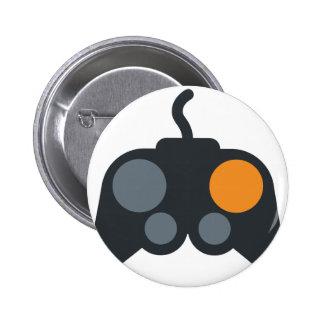 Emoji Twitter - Video Games zu kontrollieren Runder Button 5,7 Cm