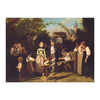 Empfang der Hochzeits-Paare durch Theodor Schuz Leinwanddruck