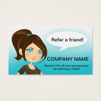 Empfehlung sagen einer Freund-Visitenkarte Visitenkarten