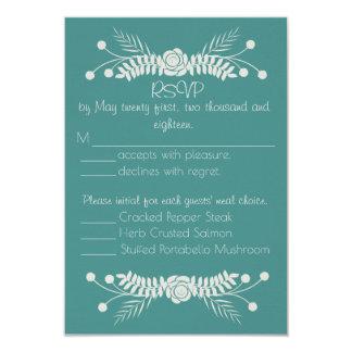 Empfindliche Blumenhochzeits-Wartekarte 8,9 X 12,7 Cm Einladungskarte