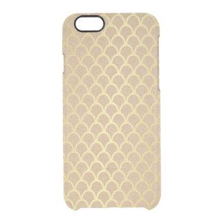 Empfindlicher Öko-Wagen-goldenes Wellen iPhone Durchsichtige iPhone 6/6S Hülle