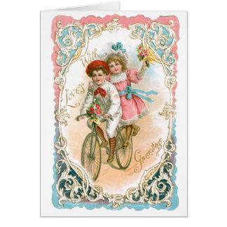 Empfindlicher Vintager Valentine Karte