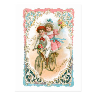 Empfindlicher Vintager Valentine Postkarte