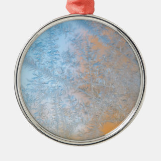 Empfindliches Frostmuster, Wisconsin Rundes Silberfarbenes Ornament