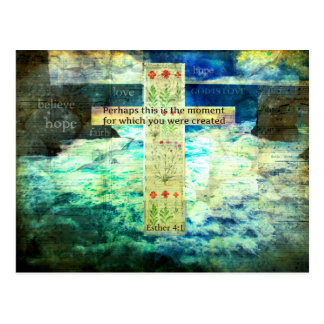 Emporhebender inspirierend Bibel-Vers über das Postkarte