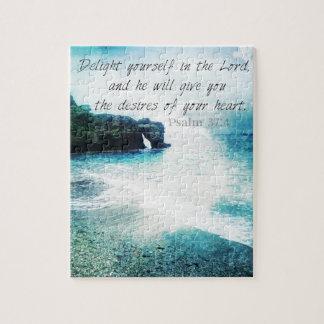 Emporhebendes inspirierend Bibel-Vers-Psalm-37:4 Puzzle