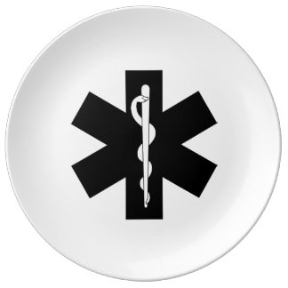 EMS EMT und Sanitäter-Geschenke Teller Aus Porzellan