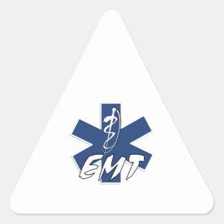 EMT aktiver Stern des Lebens Dreieckiger Aufkleber