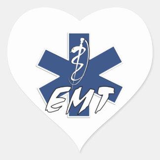 EMT aktiver Stern des Lebens Herz-Aufkleber