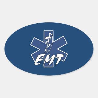 EMT aktiver Stern des Lebens Ovaler Aufkleber