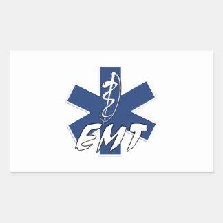 EMT aktiver Stern des Lebens Rechteckiger Aufkleber