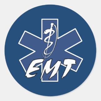 EMT aktiver Stern des Lebens Runder Aufkleber