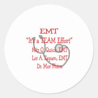 """EMT """"Team-Bemühung"""" unglaublich witzig Sticker"""