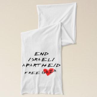 Enden-israelische Apartheid auf hellem Hintergrund Schal