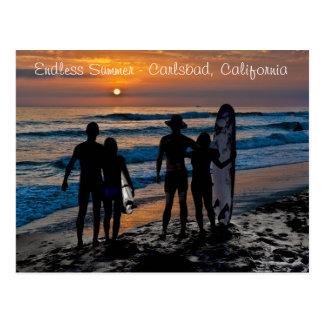 Endloser Sommer in Karlsbad, Kalifornien (USA) Postkarte