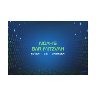 ENDLOSES VIDEOspiel Bar Mitzvah unterzeichnen Leinwanddruck