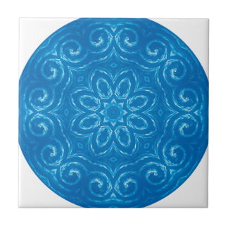 Energie-Mandala - Blau Kleine Quadratische Fliese