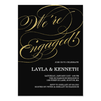 Engagierende Verlobung 12,7 X 17,8 Cm Einladungskarte
