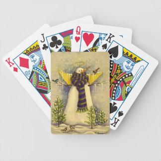 Engel des Schnee-4881 u. Vogel-Weihnachten Spielkarten