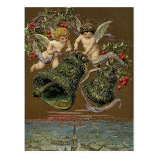 Engel, die in Weihnachten 1906 schellen Postkarte